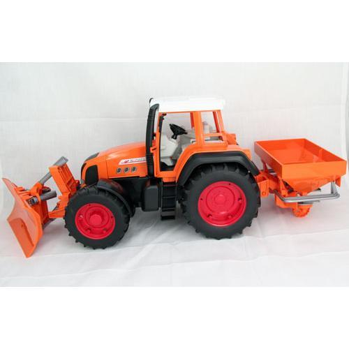 -BRUDER Fendt Favorit 926 Kommunal-Orange mit Schneepflug und Salzstreuer