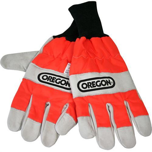 OREGON Schnittschutz-Handschuhe aus Leder einseitiger Schnittschutz
