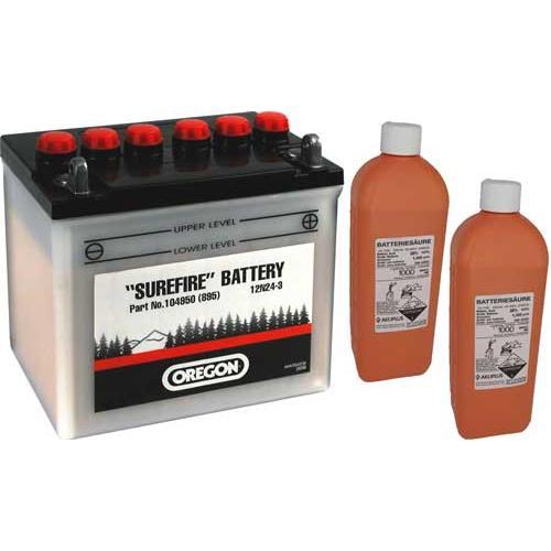 104950 - Oregon Batterie 12V, 24 Ah, Pluspol rechts,  inkl. Säure