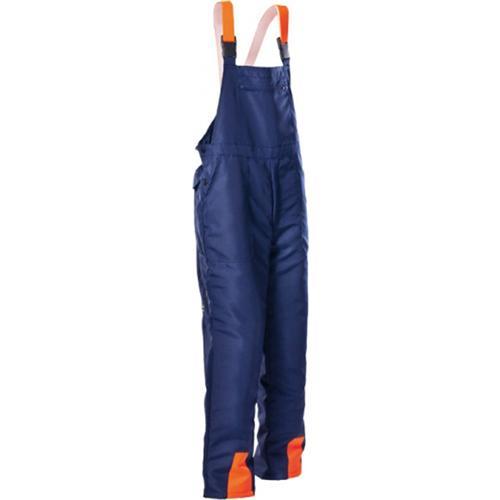 Forstschutz-Latzhose, blau, Schnittschutzklasse 1 Typ A