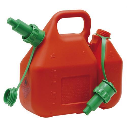 Profi-Doppelkanister 5+2 Liter,  rot inkl. 2 Ausgiesser