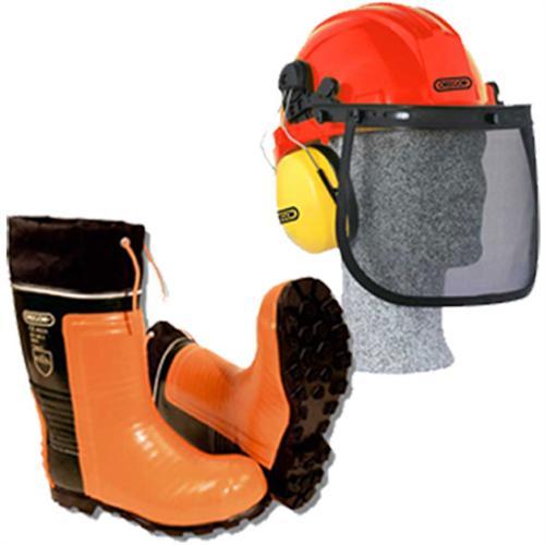 2-teiliges OREGON Forstschutzset Gummistiefel & Helm