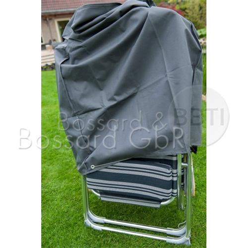 6030643 NATURE Premium Schutzhülle f. klappbare  Liegestühle, 68 x 28 x 95 cm, grau, 240 g/m²