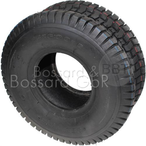 Reifen 15x6.00-6 4PR, inkl Schlauch