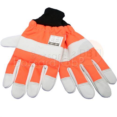 Schnittschutz-Handschuhe aus Leder, einseitiger Schnittschutz
