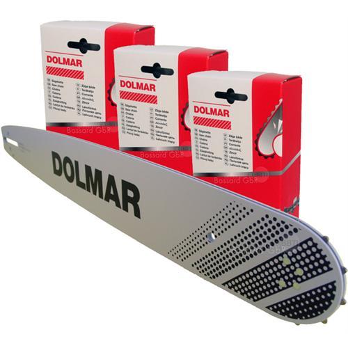 """DOLMAR 1+3 Schienen-Ketten-Set 38 cm 3/8"""" 1.5 mm"""