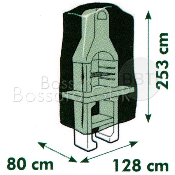 6030614 - Schutzhülle für Grill 128 x 80 x 253 cm Pic:2