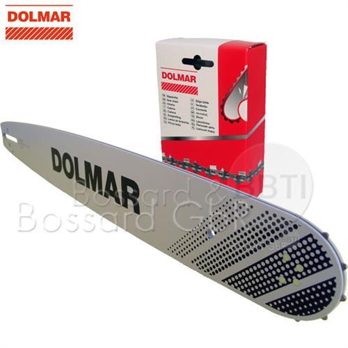 """DOLMAR 1+1 Schienen-Ketten-Set 38 cm 3/8"""" 1.5 mm"""