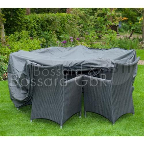 6030633 NATURE Premium Schutzhülle für Gartentisch 325 x 205 x 90 cm, grau, 240 g/m²