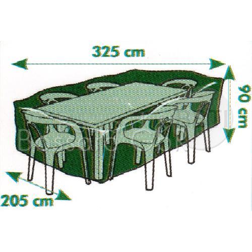 6030633 nature premium schutzh lle f r gartentisch 325 x 205 x 90 cm grau 240 g m. Black Bedroom Furniture Sets. Home Design Ideas