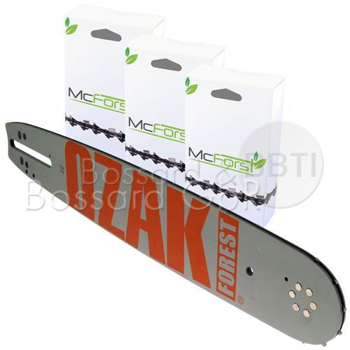 """ORAZKI/McForst 1+3 Schienen-Ketten-Set<br/> 35 cm 3/8"""" 1.3 mm"""