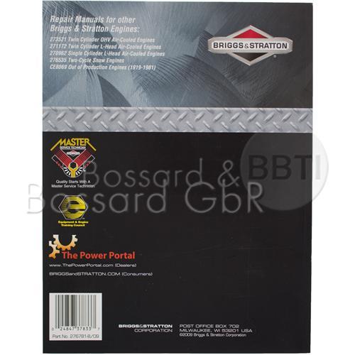 276781 - Briggs & Stratton Reparaturhandbuch, englisch Pic:2