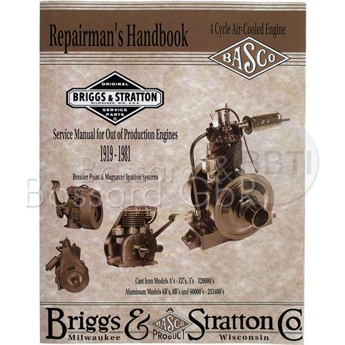 CE8069 - Briggs & Stratton Reparaturhandbuch, englisch
