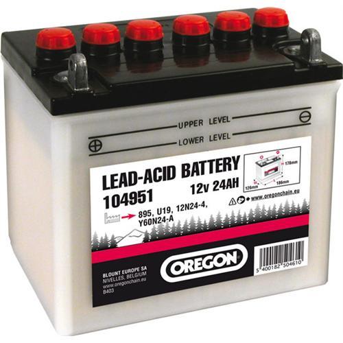104951 - Oregon Batterie 12V, 24 Ah, Pluspol links,  inkl. Säure Pic:1