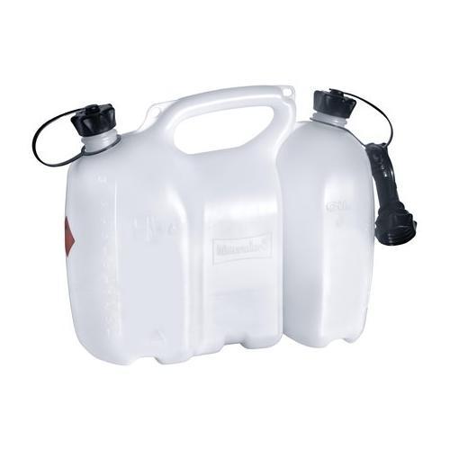 562406 - Oregon Profi-Kombikanister 6+3 Liter, transparent, inkl. Ausgiesser