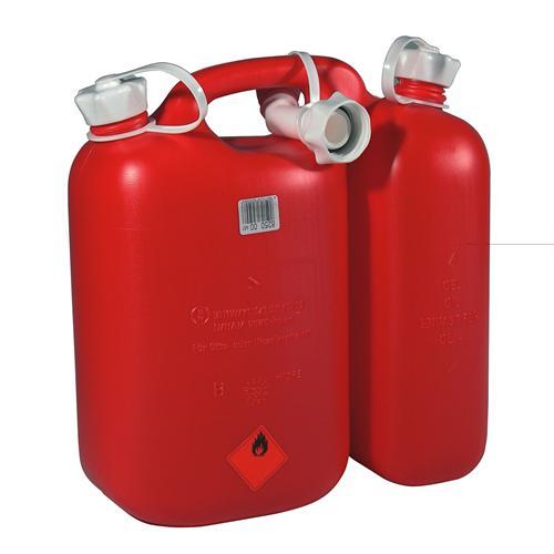 562407 - OREGON-Doppelkanister 5+3 Liter,  rot inkl. Ausgiesser