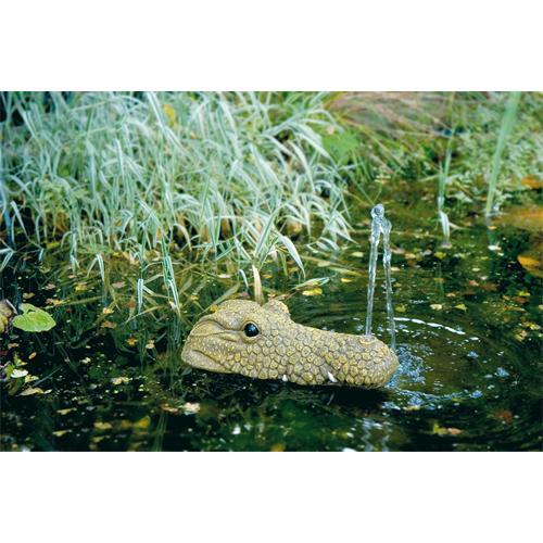 Krokodil 2, Wasserspeier 11x36x21 cm