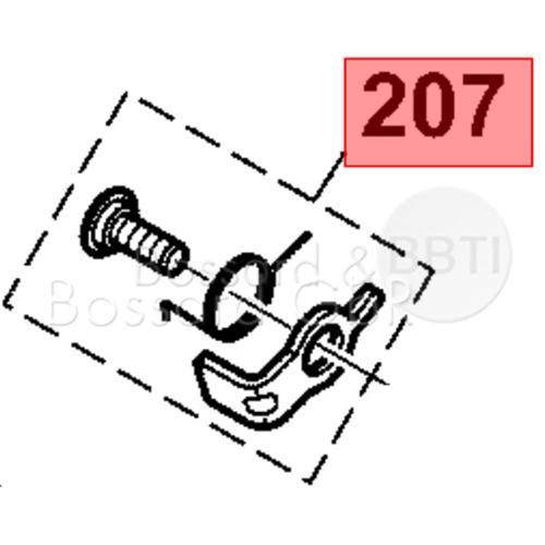 165166100 - Anwerferklinke, kpl.
