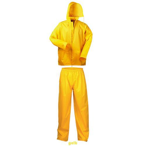 Regenanzug: gelb, oliv, blau, marine o. camouflage  Pic:2