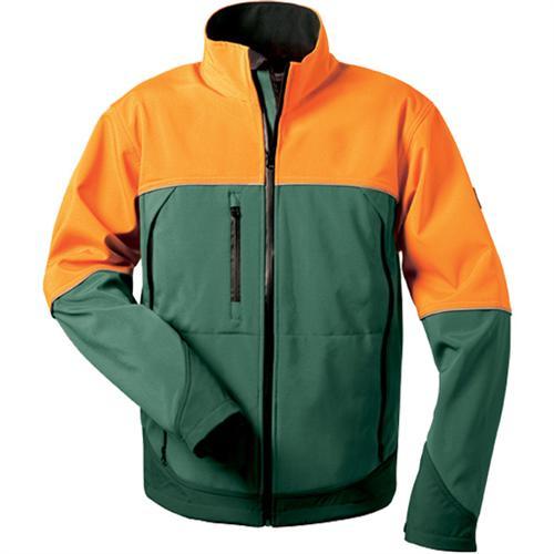 Elysee Softshell-Forstjacke SANDDORN grün/orange