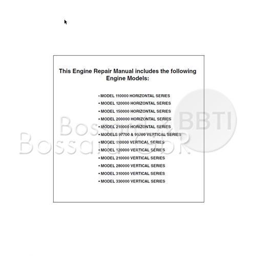 276781 - Briggs & Stratton Reparaturhandbuch, englisch Pic:1