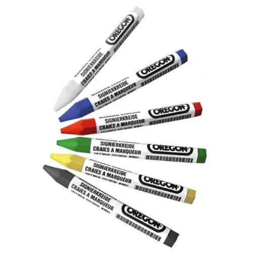 Forstsignierkreide blau/rot/grün/gelb/weiß/schwarz