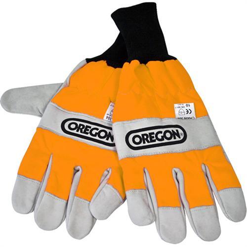 OREGON Schnittschutz-Handschuhe aus Leder, beidseitiger Schnittschutz
