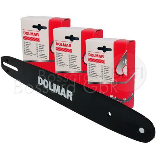 """DOLMAR 1+3 Schienen-Ketten-Set 35 cm 3/8"""" 1.3 mm"""