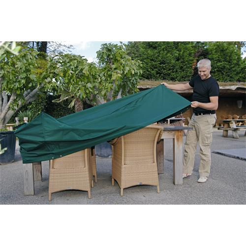 5013440 - Schutzhülle für Gartentische Ø 205 x 90 cm, rund, grün, PALERMO