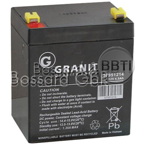 Starterbatterie 12V 4,5 Ah für Handrasenmäher