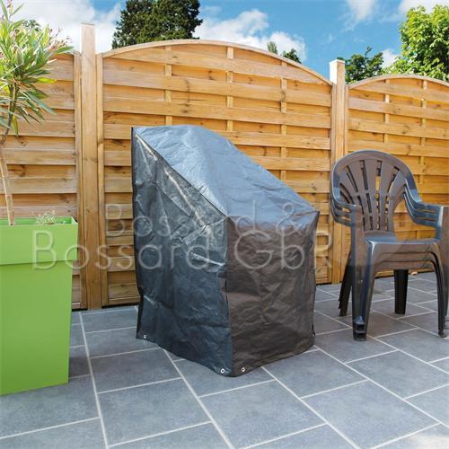 6030606 - Schutzhülle für Stapelstühle, grau 68 x 68 x 110 cm