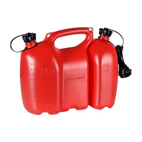 562405 - Oregon Profi-Kombikanister 6+3 Liter, rot inkl. Ausgiesser