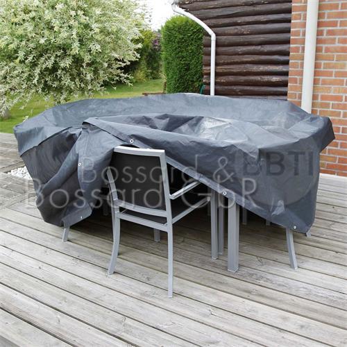 6030601 - Schutzhülle für Gartentische, grau rund, Ø 325 x 90 cm