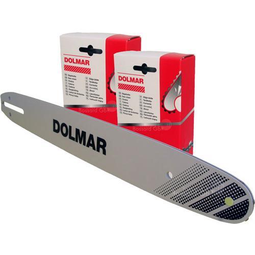 """DOLMAR 1+2 Schienen-Ketten-Set 40 cm 3/8"""" 1.3 mm"""